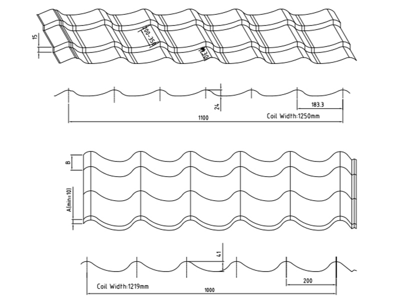 Popular Roofing Profile Drawings